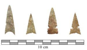 Protohistoric Wichita points found at Etzanoa.