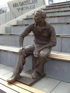 Sculpture of Dassler in the Adi Dassler Stadium.