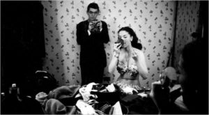Stanley Kubrick was a Look magazine photographer when he caught himself in the mirror of Rosemary Williams, a showgirl, in 1949.