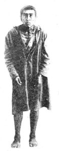 Ishi the last of the Yahi tribe. From a photograph taken after his capture at Oroville, California in 1911.