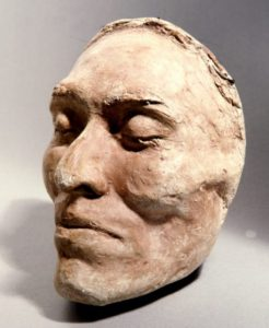 Death mask of Ishi, the last survivor of a small band of Yahi who escaped from a massacre of their people in 1865.