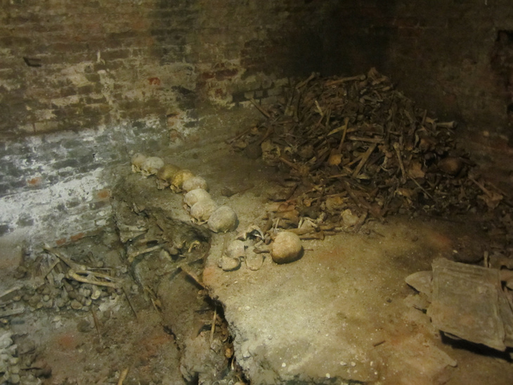 Fascinating history buried deep below St Bride's Church, London.