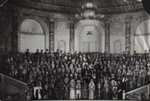 Group photo of the Costume Ball of 1903.