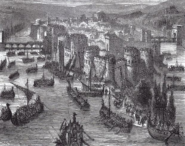 Few peoples are as famous for their raiding and terror as the Vikings. Their success in war owes to a number of reasons. Here, a 19th century artist's impression of a Viking siege of Paris.