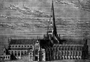 Old St. Paul's Cathedral before the fire.