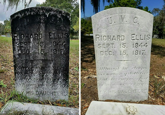 Florida Man Spends His Only Day Off Cleaning Tombstones Of Forgotten Veterans