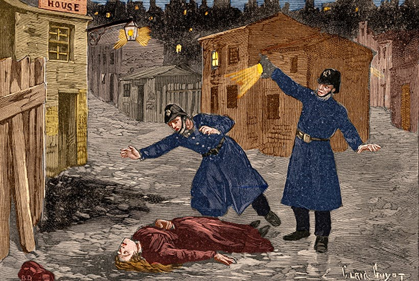 Jack the Ripper: The infamous killer, who terrorized the women of London's Whitechapel in autumn 1888.