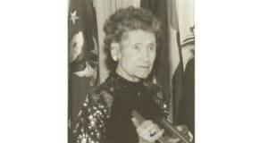 Mary Babnik Brown being honored in 1990