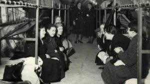 Bethnal Green Tube Station was used as an air raid shelter during World War II