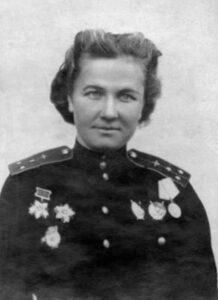 Nadezhda Popova, a commander of the squad who flew 852 missions.