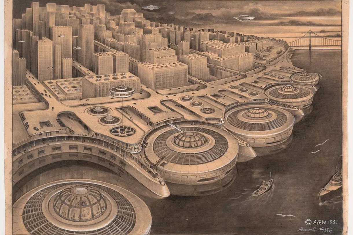 This is what San Francisco was supposed to look like, according to 1950 drawing