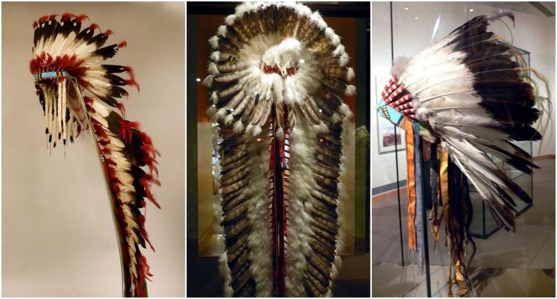Surviving examples of Warbonnets worn by American Plains Indians