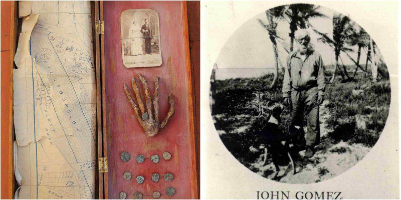 Old hand, coins, and treasure map found in Florida attic