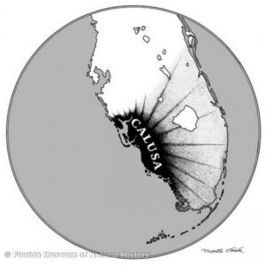 Calusa influence extended over most of South Florida in the sixteenth century. (Image Courtesy of Florida Museum of Natural History )