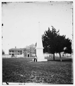 Government House as seen from the Town Plaza c. 1861–65