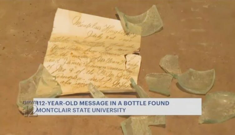 Early 20th-Century Message Found at New Jersey University