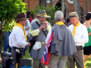 Descendants of Americans during the Confederate Festival in Santa Bárbara d'Oeste , São Paulo