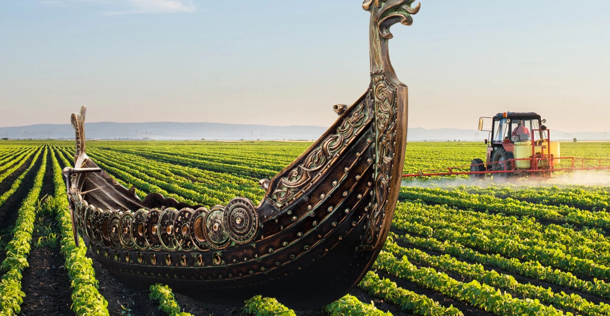 Unsuspecting Farmer Finds out Huge Viking Ship is Buried Under his Farm