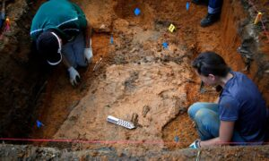 Anthropologists at the University of South Florida exhume a grave at the Arthur G Dozier School for Boys in 2013.