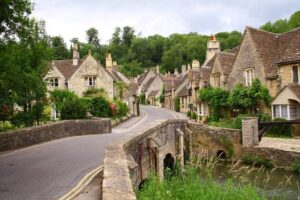 Looking up Water Street from the Brook – Castle Combe, England.