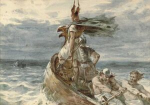 'Vikings Heading for Land' (1873) by Frank Dicksee.