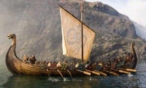A Viking ship.
