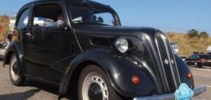 1950s Ford Popular 103E, like the one found in the man's garden.