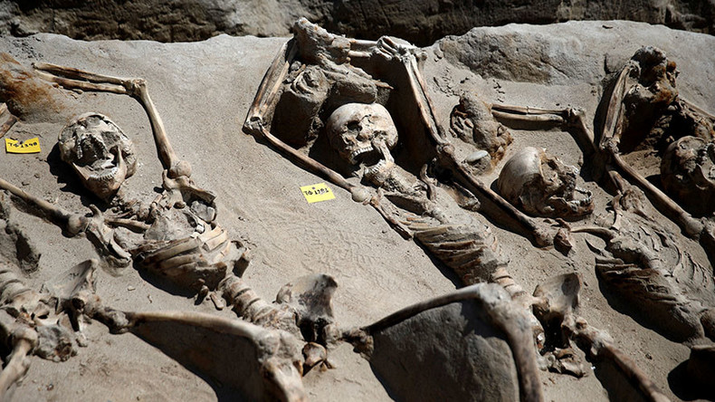 Shackled skeletons discovered in Ancient mass graves in Greece