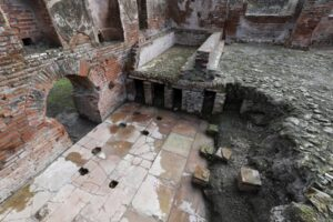 The bath house never got to be used by Pompeii's ancient inhabitant