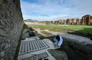 Excavators found grand mosaic tiles and pillars