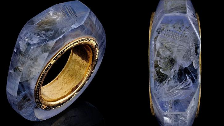 Exquisite 2,000-year-old sapphire ring thought to have belonged to Roman Emperor Caligula