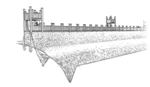 Artist's rendering of the Exeter fort (Exeter City Council)