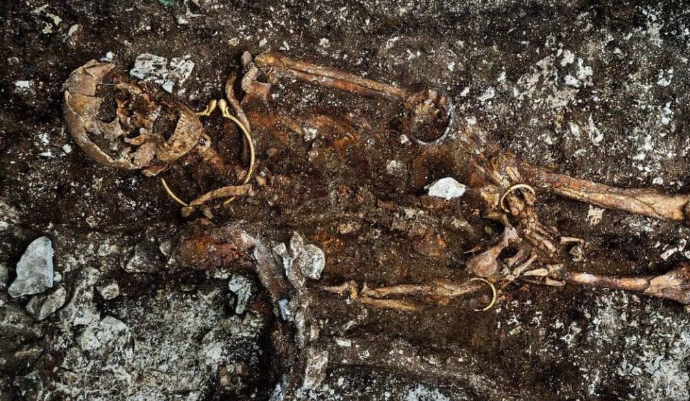 Mystery of 'feminine' skeleton found in the royal Celtic tomb