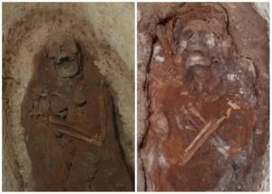 Some of those buried at the complex were identified as priests and priestesses of a mysterious snake goddess.