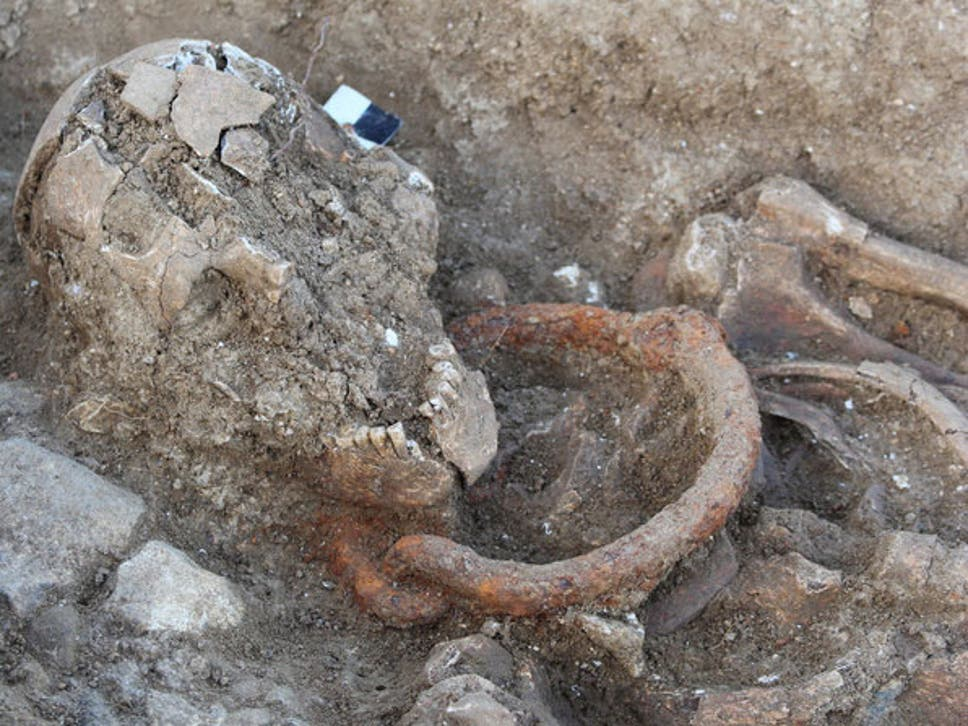 Shackled skeletons discovered in ancient Roman burial ground in France