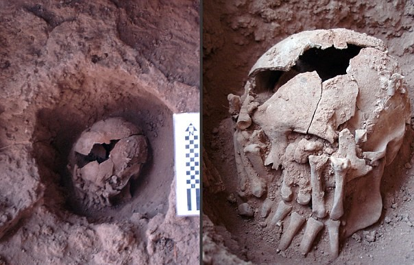 9,000-Year-Old Decapitated Skull Found under Amputated Hands
