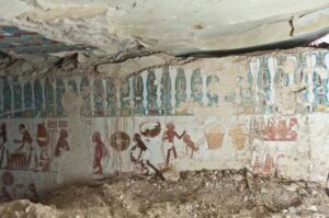 An inside look of a discovered tomb in Egypt's Aswan.