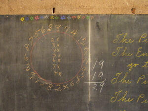 """The """"multiplication wheel"""" was found behind a wall at Emerson High School."""