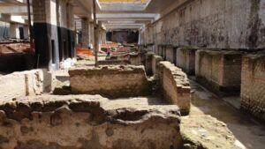 The extensive ruins will form part of a new metro station