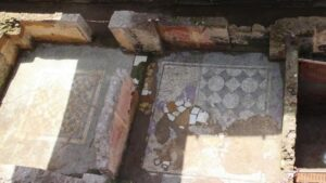 Roman mosaic floors have been discovered in the barracks