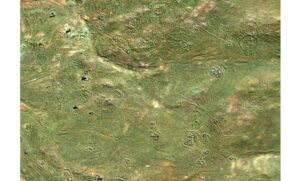 Screenshot from Google Earth showing just a tiny area in South Africa, which is rich with ancient earthworks and stone structures