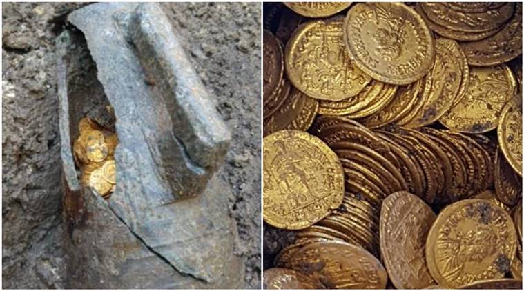 Hundreds of gold coins dating to Rome's Imperial era found in Italy