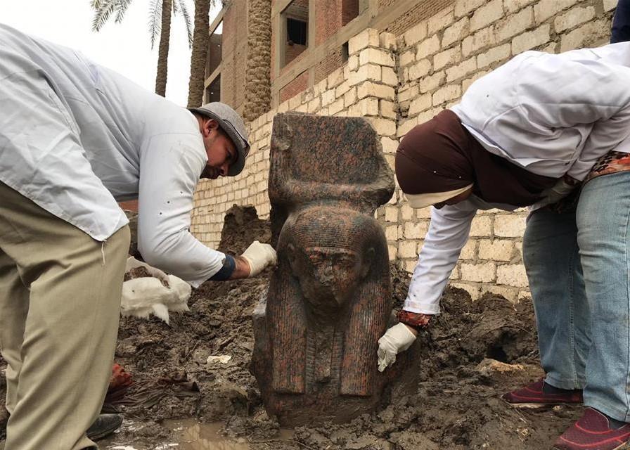 Egypt unearths rare statue of King Ramses II near Giza pyramids