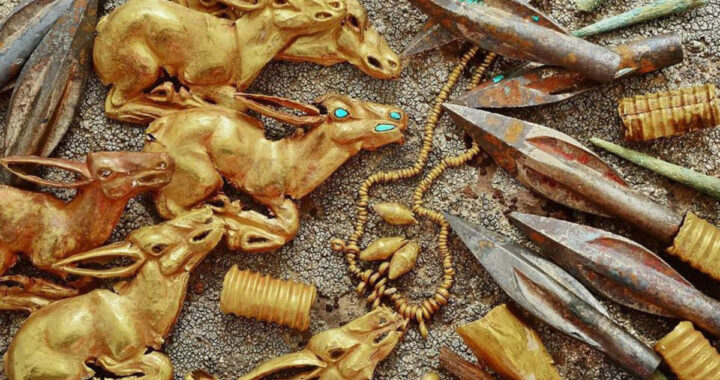 3,000 Ancient Gold Pieces Discovered In Burial Site In Kazakhstan