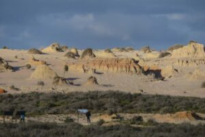 The excavation of skeleton remains from the Willandra Lakes Region has angered local Indigenous people.