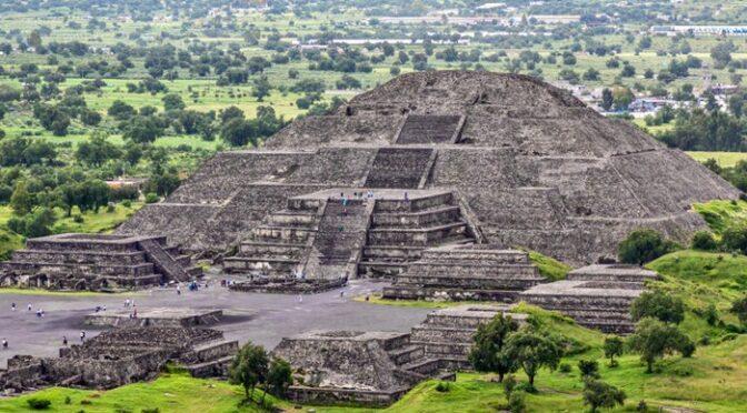 Secret cave lies hidden below the enormous 'Moon Pyramid'