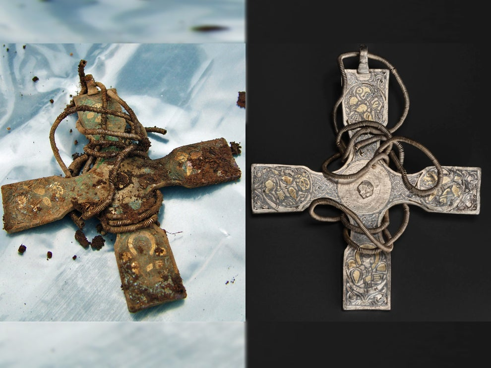 Fit for a king: true glory of 1,000-year-old cross buried in Scottish field is revealed at last