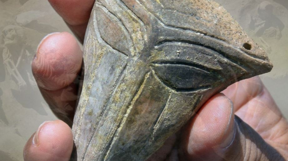 Mouthless 'Alien Mask' Found At Late Chalcolithic Salt Pit Settlement Mound Near Bulgaria's Provadia