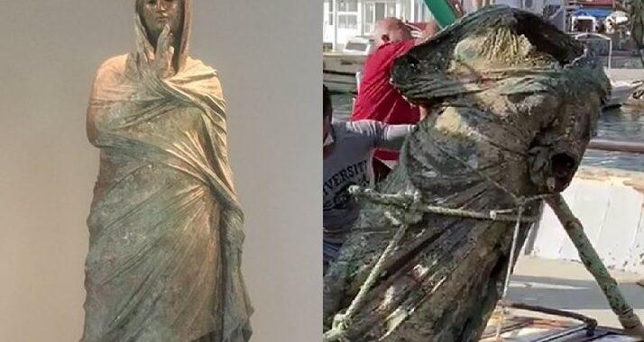 Turkish Fishermen Net 300 Kilo Ancient Bronze Statue 'Off The Coast Of Marmaris'