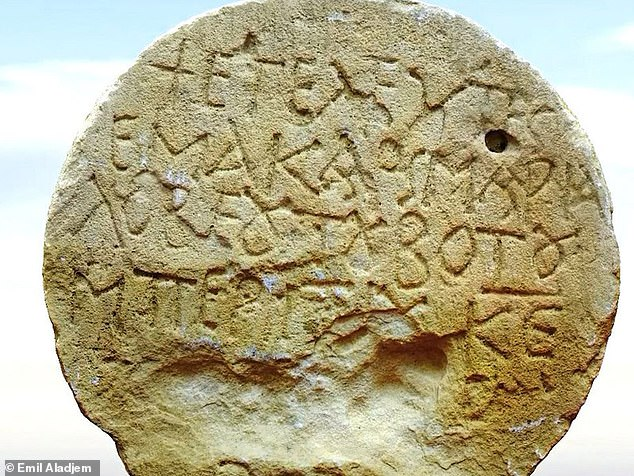 1,400-year-old burial stone with Greek inscription discovered in Israel